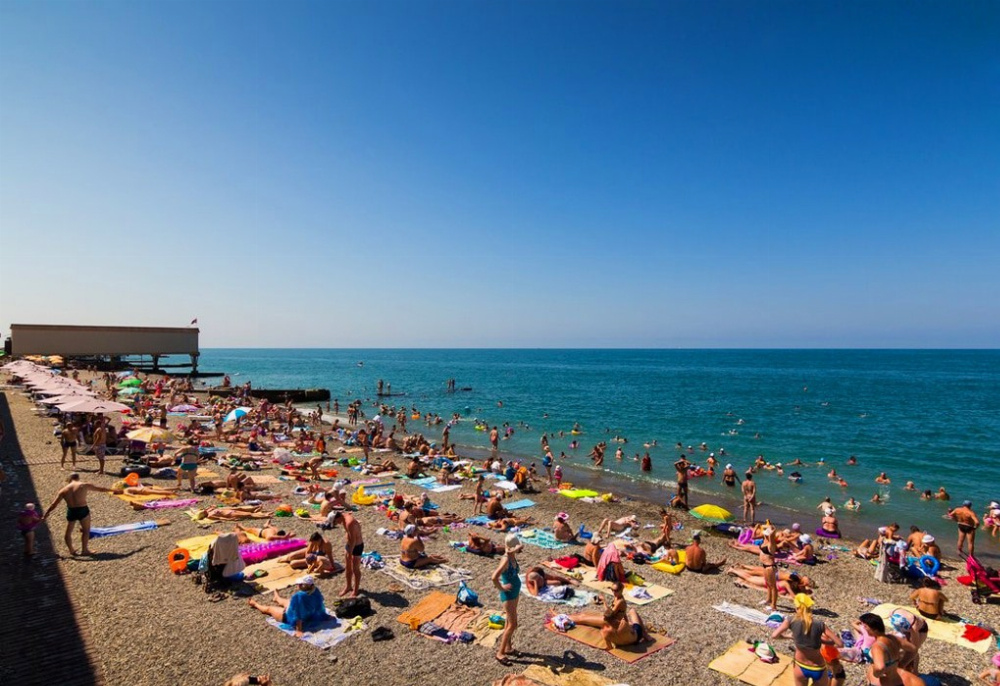 Адлер курортный городок пляжи фото